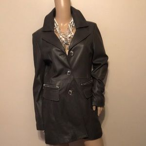 NWOT Kenneth Cole leather coat